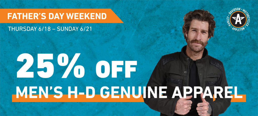 25% off Men's H-D Genuine Apparel
