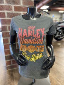 large harley davidson text women tee shirt