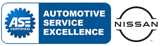 Automotive service excellence. ASE certified. Nissan