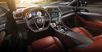 Interior Appearance of the 2021 Nissan Maxima at Gastonia Nissan
