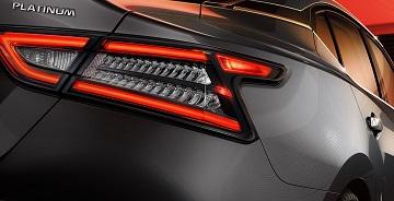 Taillights of the 2021 Nissan Maxima at Gastonia Nissan