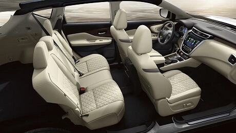 Interior appearance of the 2021 Nissan Murano available at Gastonia Nissan