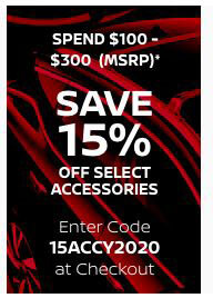 Save 15% when you spend $100-$300 (MSRP)*