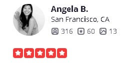 Alameda, Yelp review Review