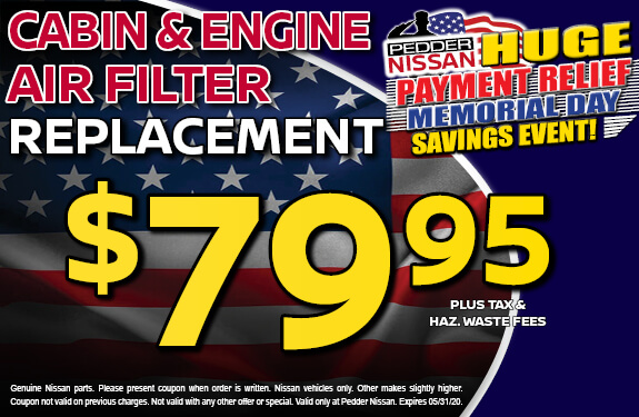 Cabin & Engine Air Filter Replacement