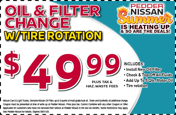 Oil & Filter Change with Tire Rotation