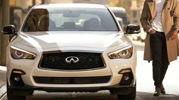 2021 Infiniti Q50 with 18 inch alloy wheels