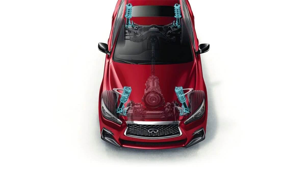 2021 Infiniti Q50 with great driver visibility