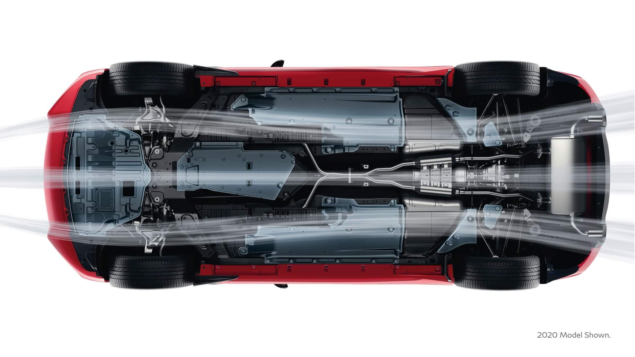 2021 Infiniti Q60 with zero lift front and rear aerodynamics