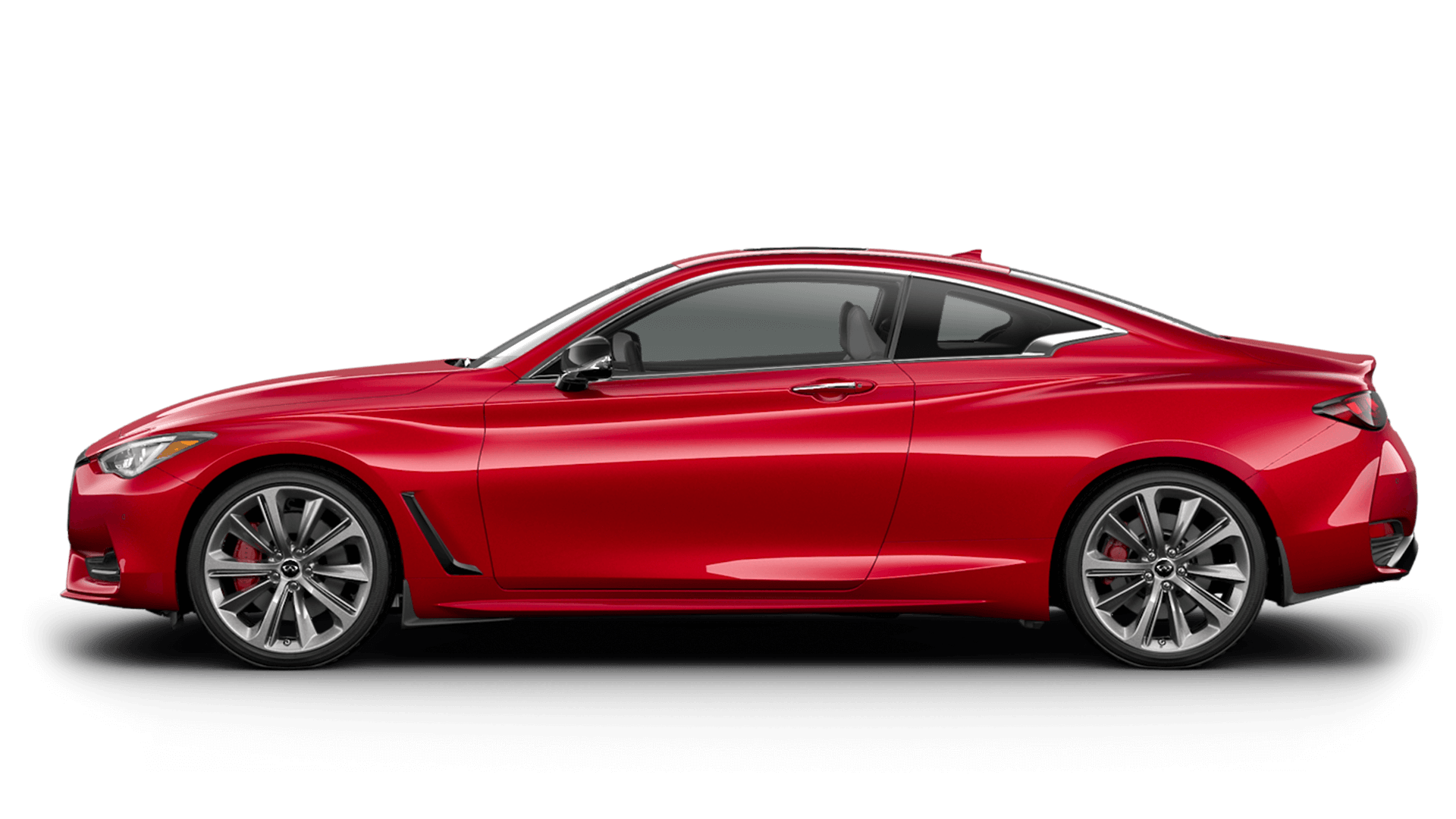 New 2021 Infiniti Q60 Red Sport 400 AWD model for sale at Oxnard Infiniti dealership near Van Nuys, CA