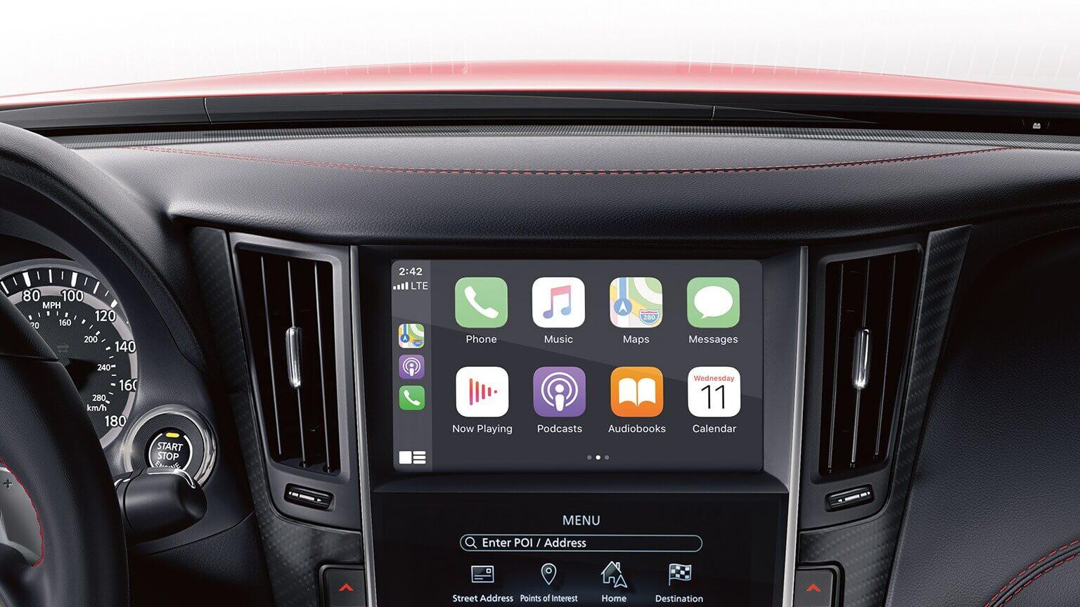 2021 Infiniti Q60 with apple carplay