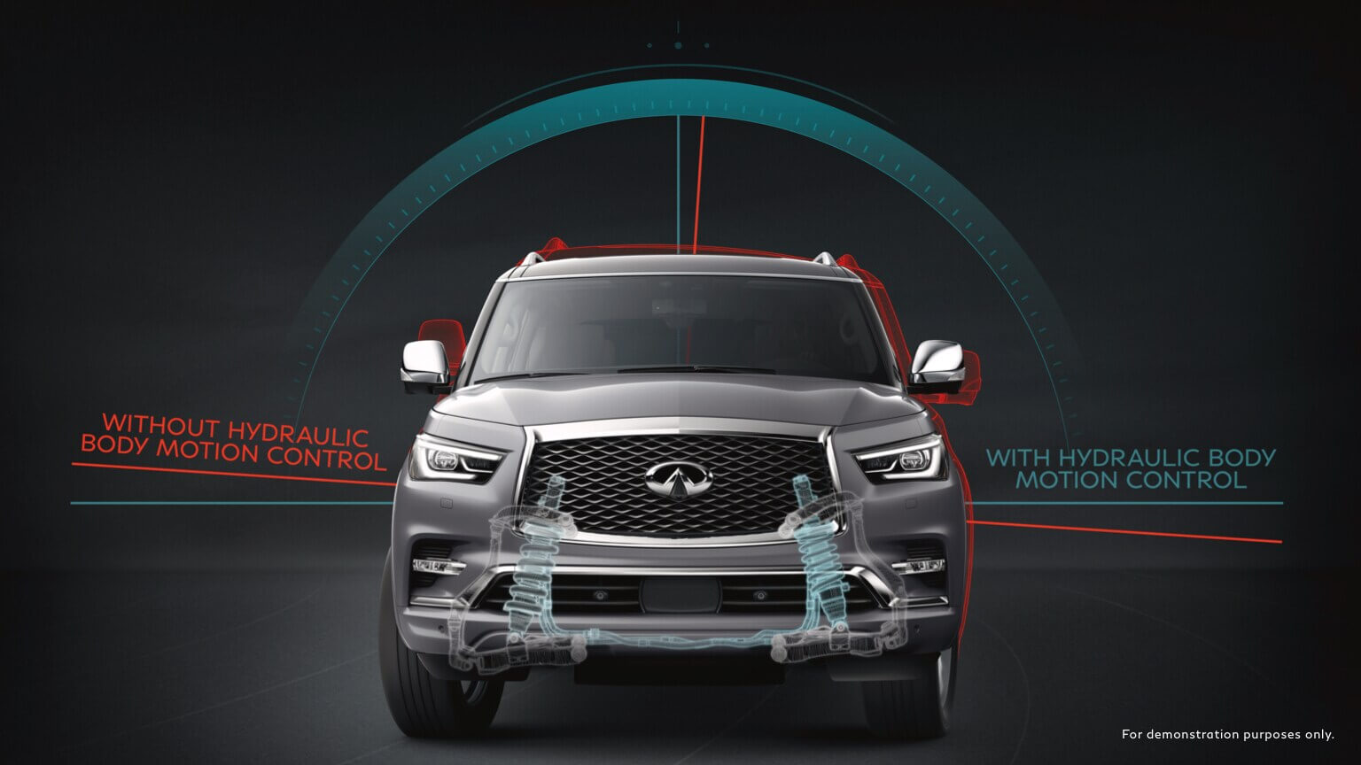 2021 Infiniti Qx80 with less vertical motion