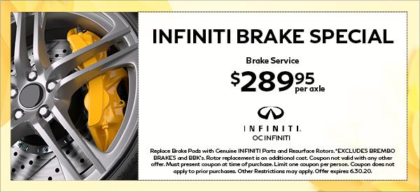 INFINITI Brake Special