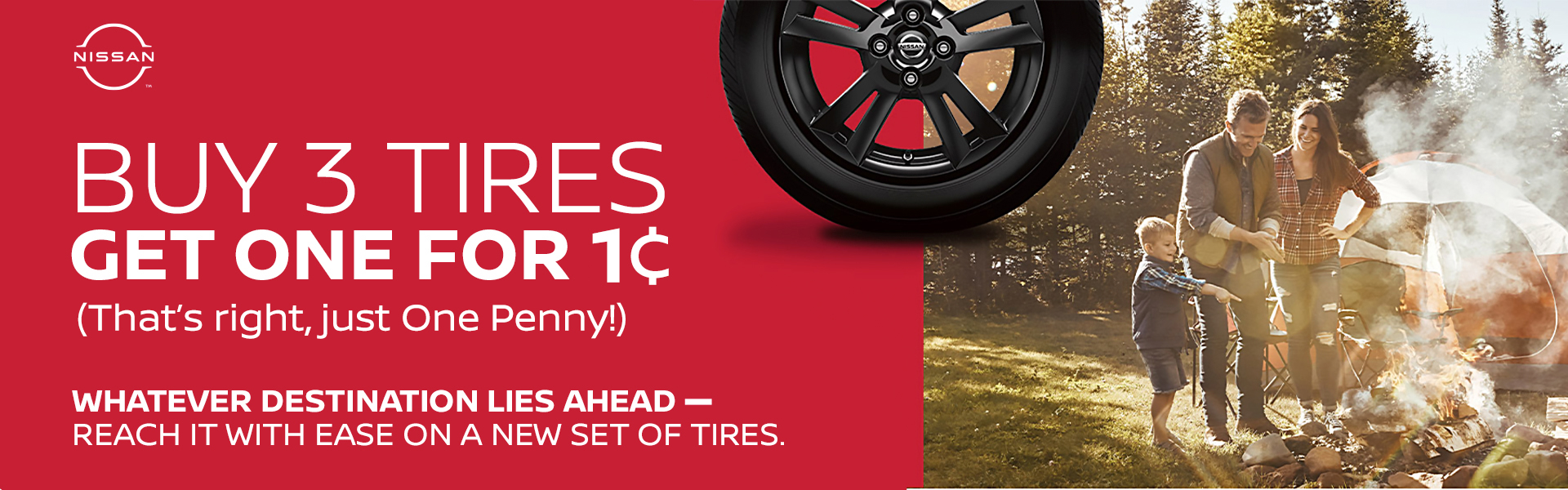 Buy 3 Tires, Get the 4th for 1¢
