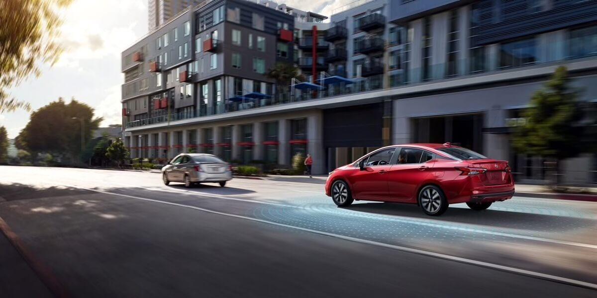 2020 Nissan Versa automatic emergency braking with pedestrian detection