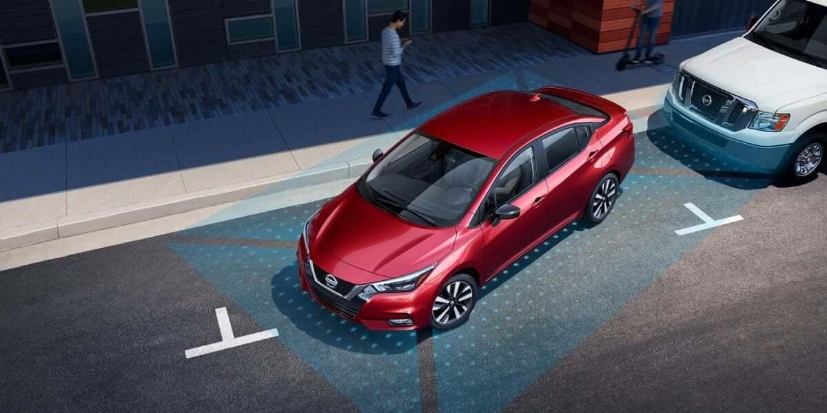 2020 Nissan Versa rear cross traffic alert