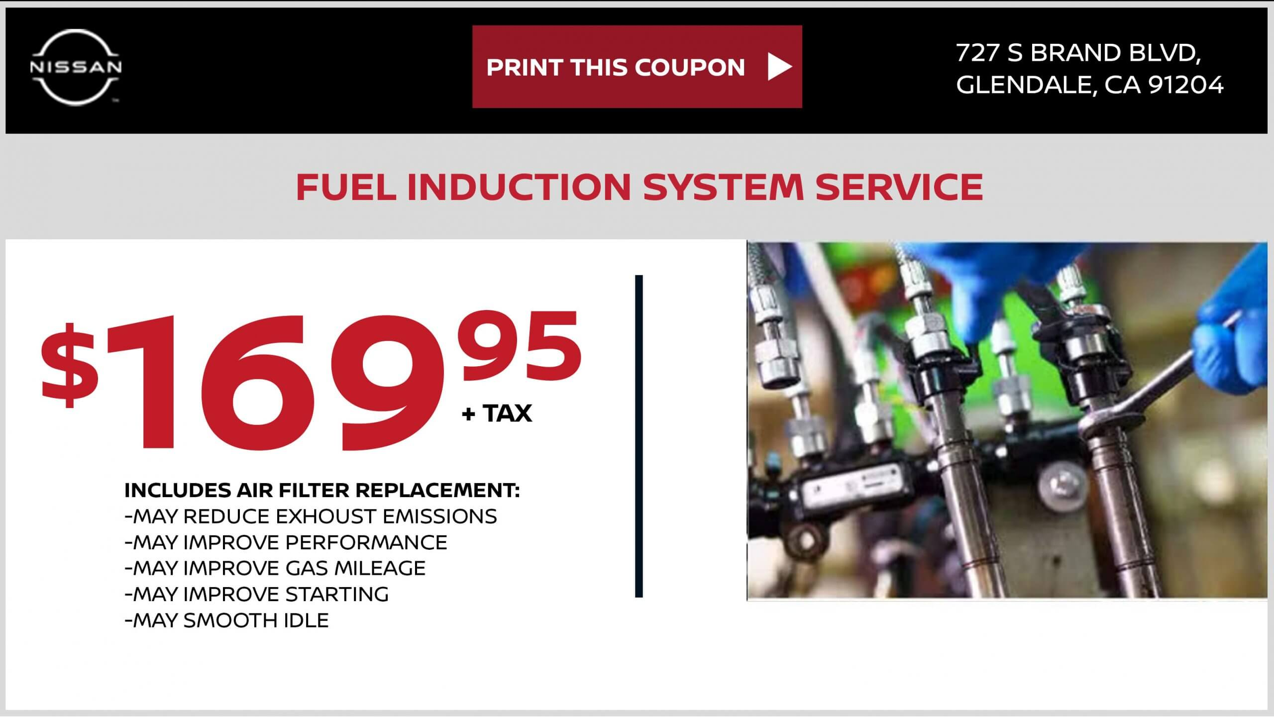 FUEL INDUCTION SYSTEM SERVICE