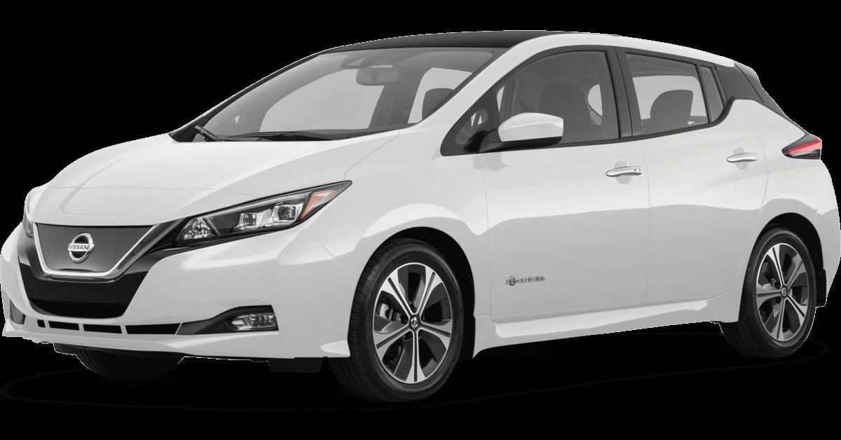 2020 Nissan Leaf electric vehicle for sale at Glendale Nissan dealership near Los Angeles