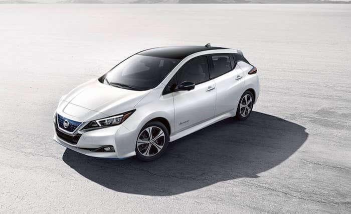 2020 Nissan Leaf electric vehicle range & charging