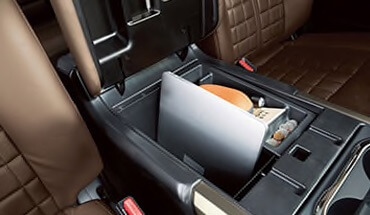 2021 Nissan Titan deep center console with laptop storage