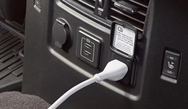 2021 Nissan Titan 120-V outlet
