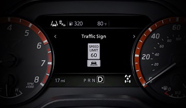 2021 Nissan Titan Traffic Sign Recognition
