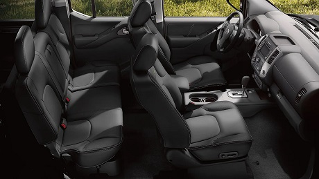 Interior appearance of the 2021 Nissan Frontier available at Rock Hill Nissan