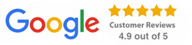 Google Customer Reviews 4.9 out of 5