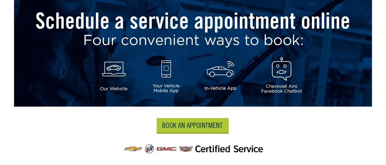 Schedule a Service Appointment Online - Book An Appointment