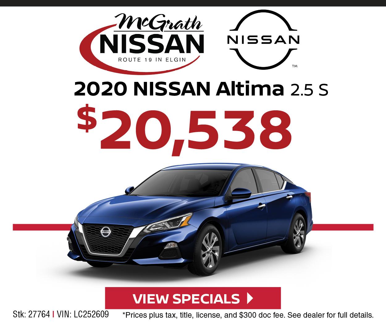 2020 Nissan Altima 2.5S - $20,538