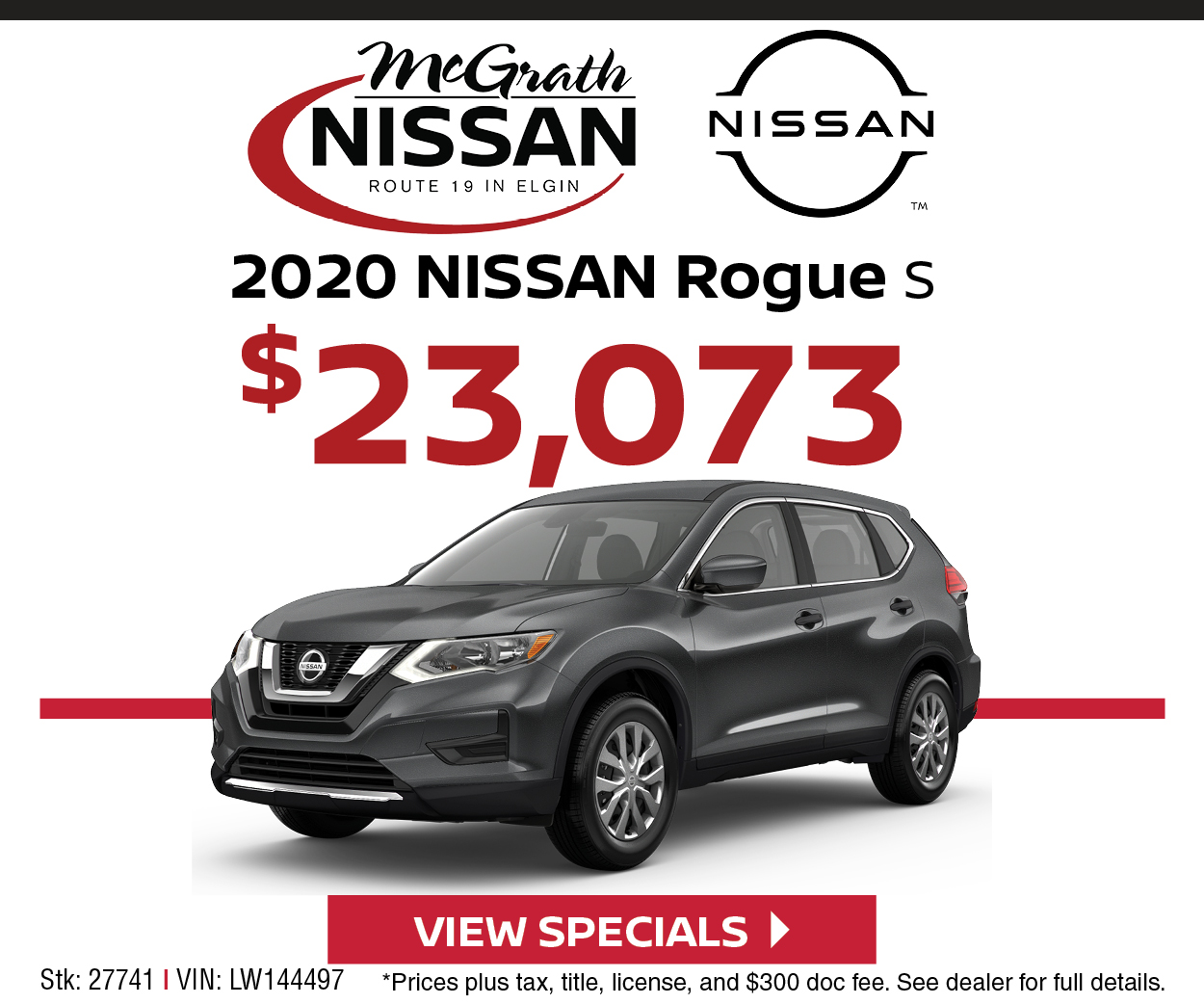 2020 Nissan Rogue S - $23,073