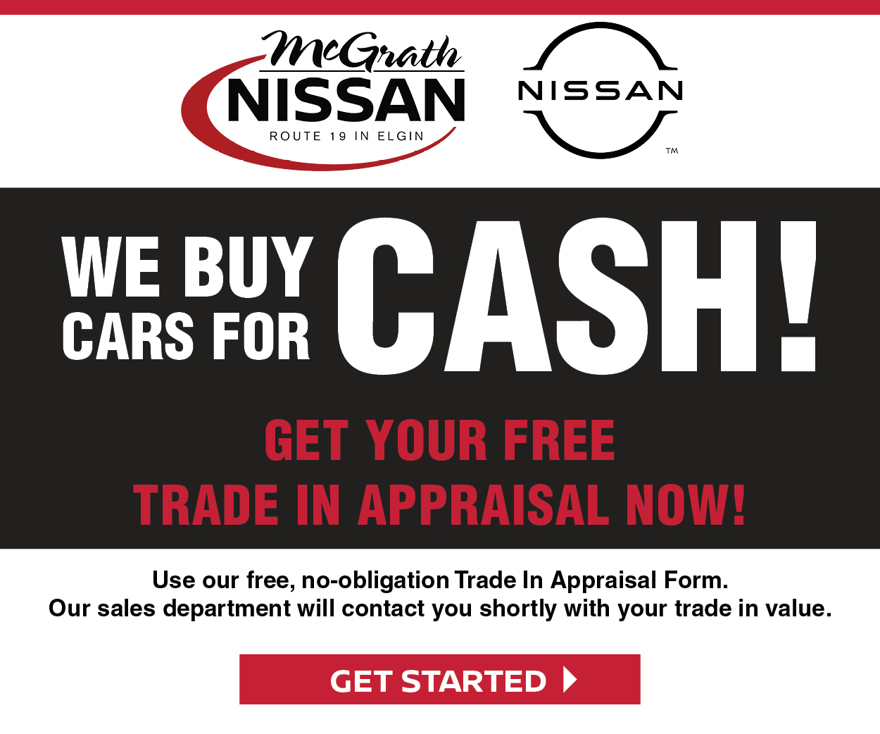 We Buy Cars for Cash! Get Your Free Trade in Appraisal Now
