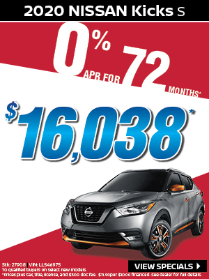2020 Nissan Kicks S $16,038