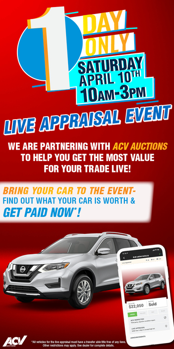 Live Appraisal Event. 1 Day Only Saturday April 10th 10am-3pm