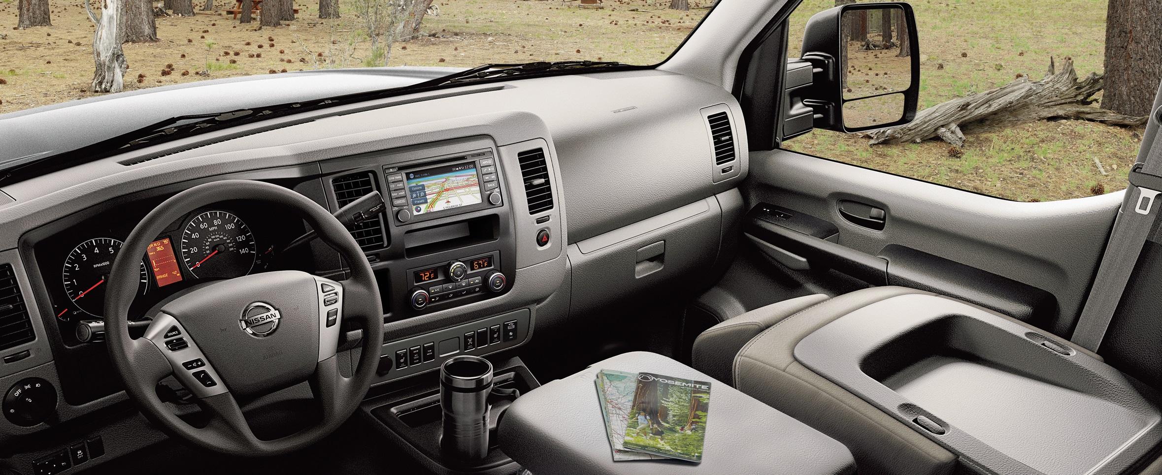 Nissan NV Van interior brownsville
