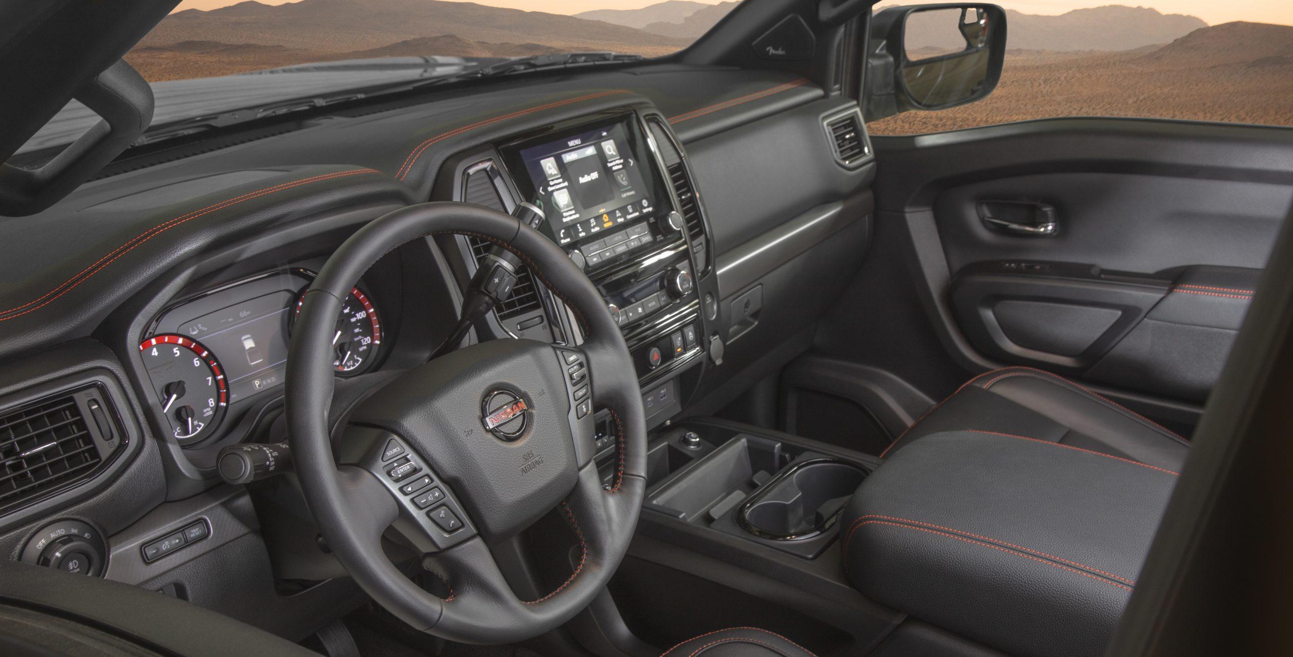 Nissan Titan interior brownsville
