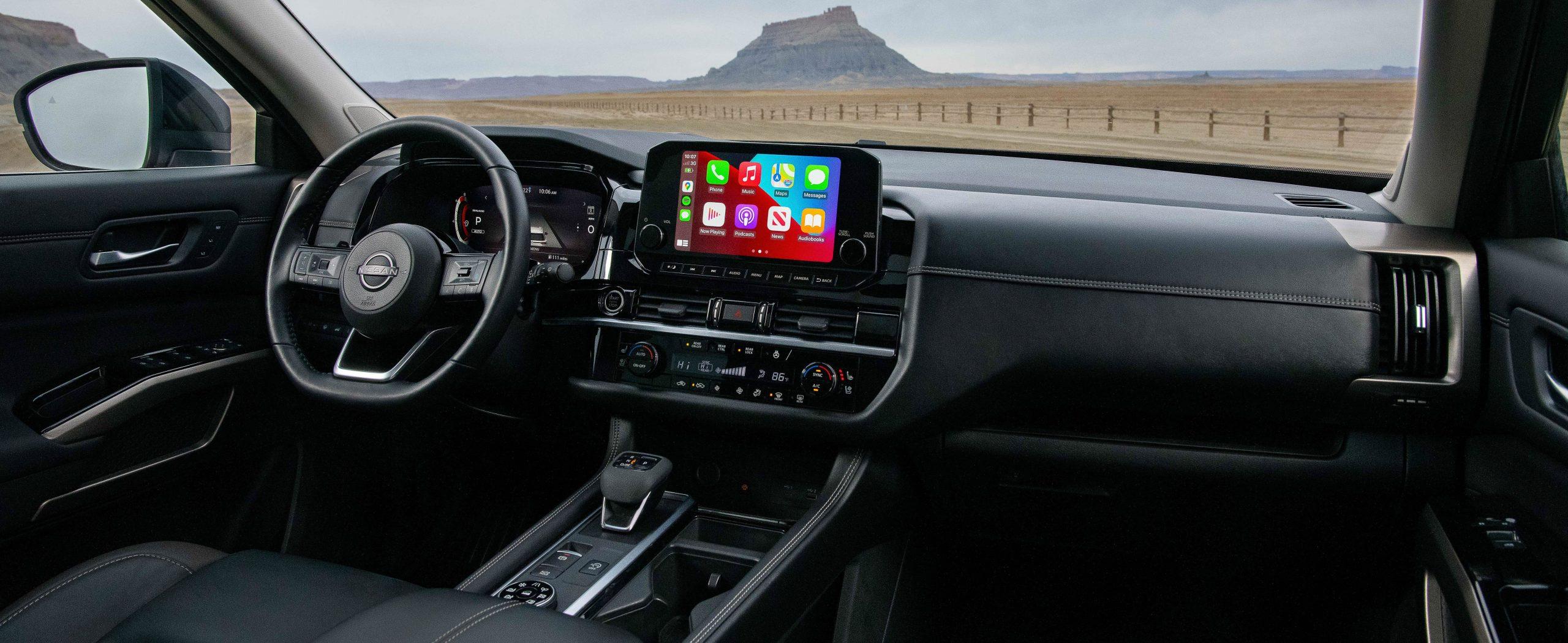 Nissan Pathfinder interior brownsville