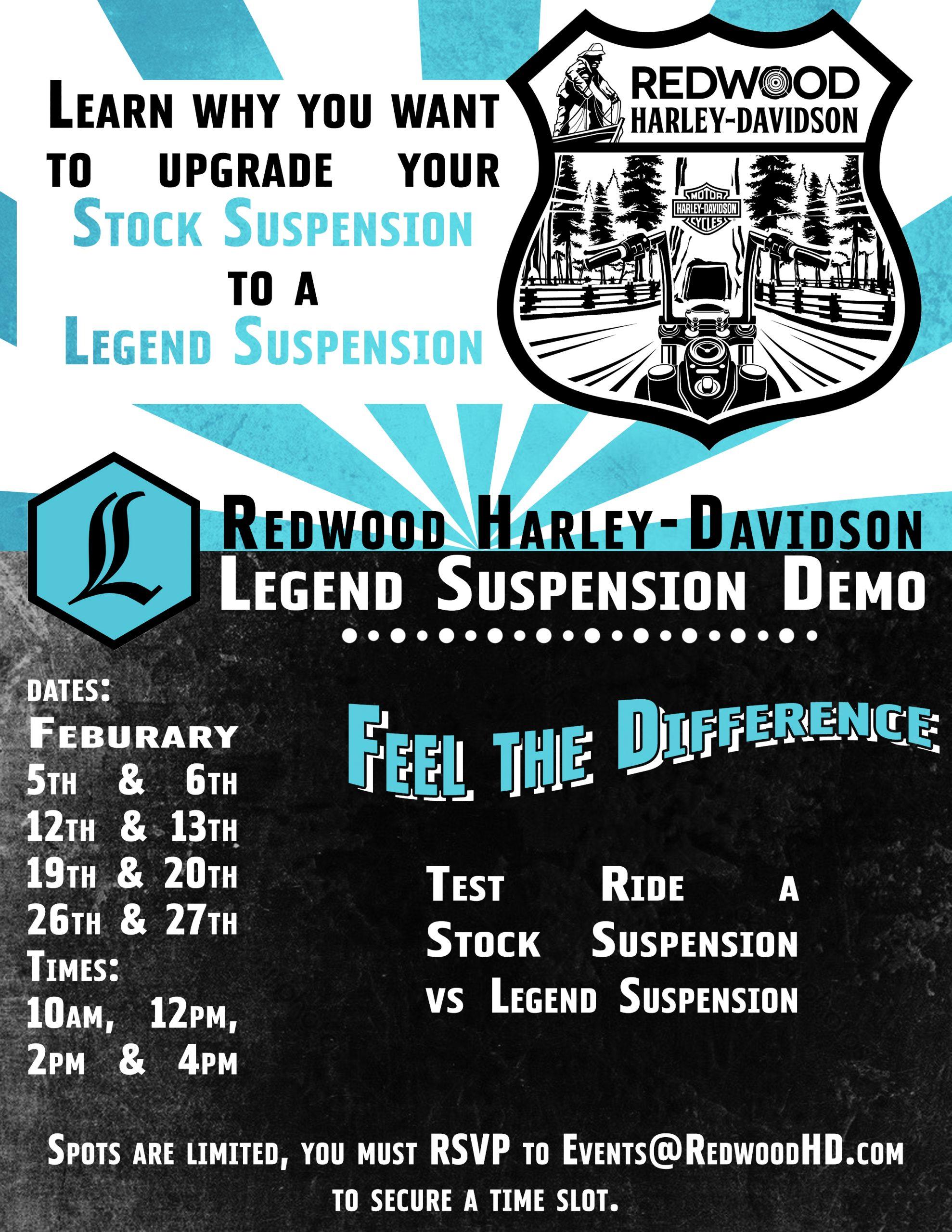 Legend Suspension Demo Flyer