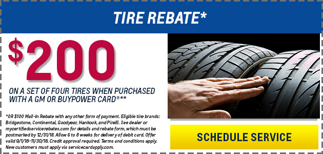 $200 Tire Rebate