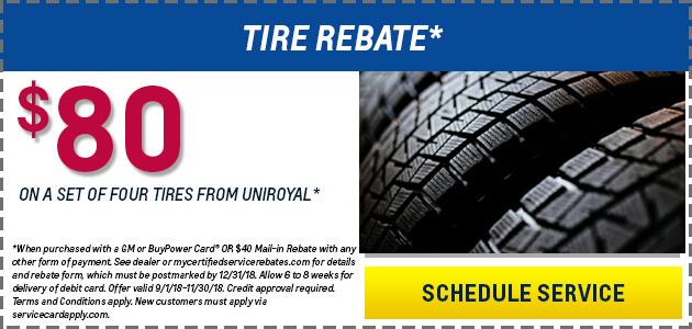 $80 Tire Rebate