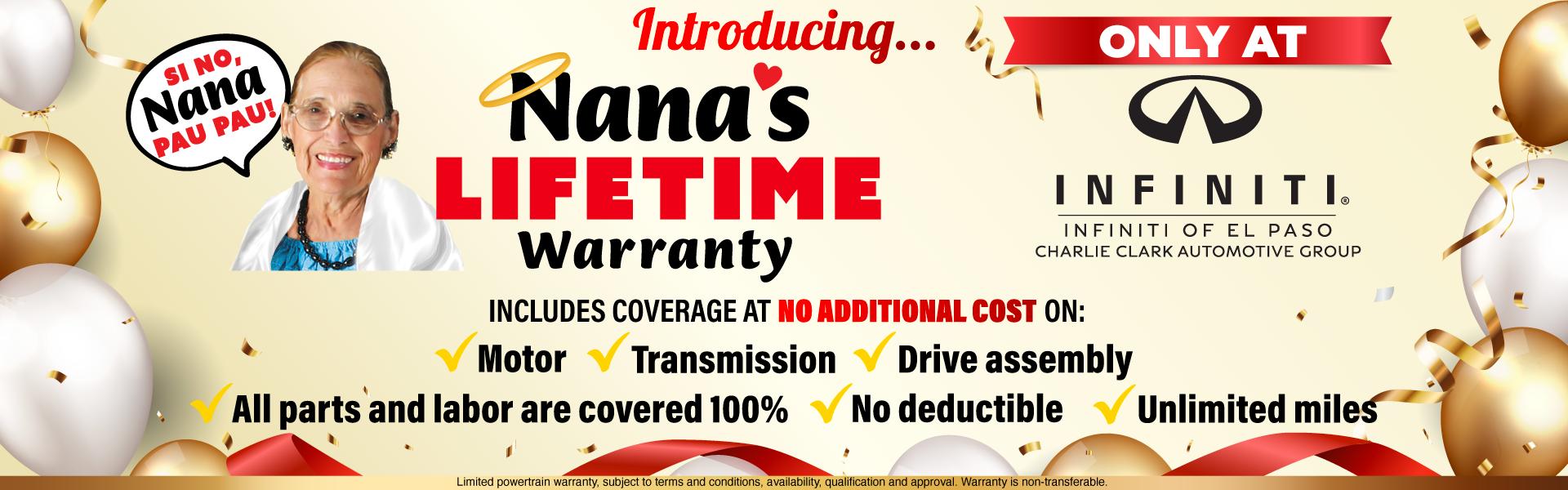 Infiniti Nanas Warranty