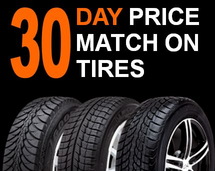 30 day price match on tires