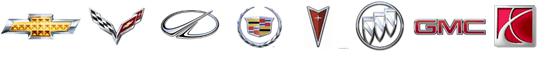 GMC, Cadillac, Buick, Corvette, Chevrolet Service logos