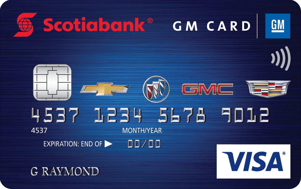 GM Scotiabank Visa Card Rewards Program