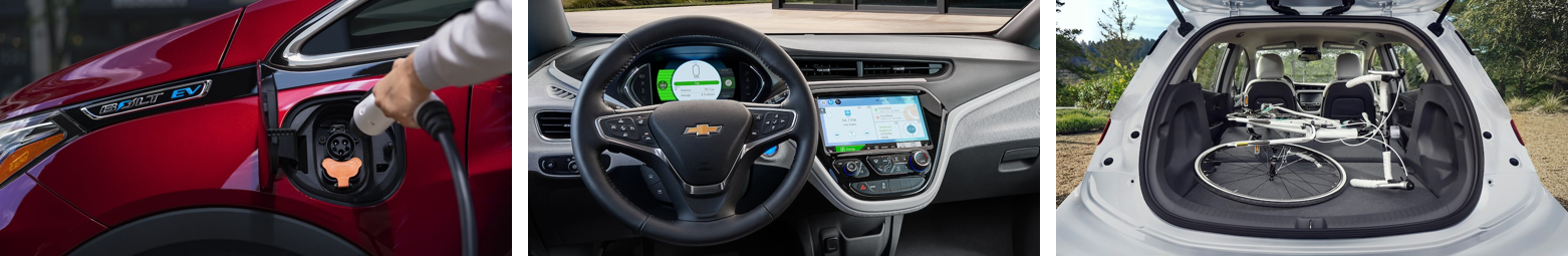 Chevrolet Bolt Images, interior, exterior and trunk space