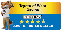 Toyota of West Covina Carfax 2020 Top Rated Dealer