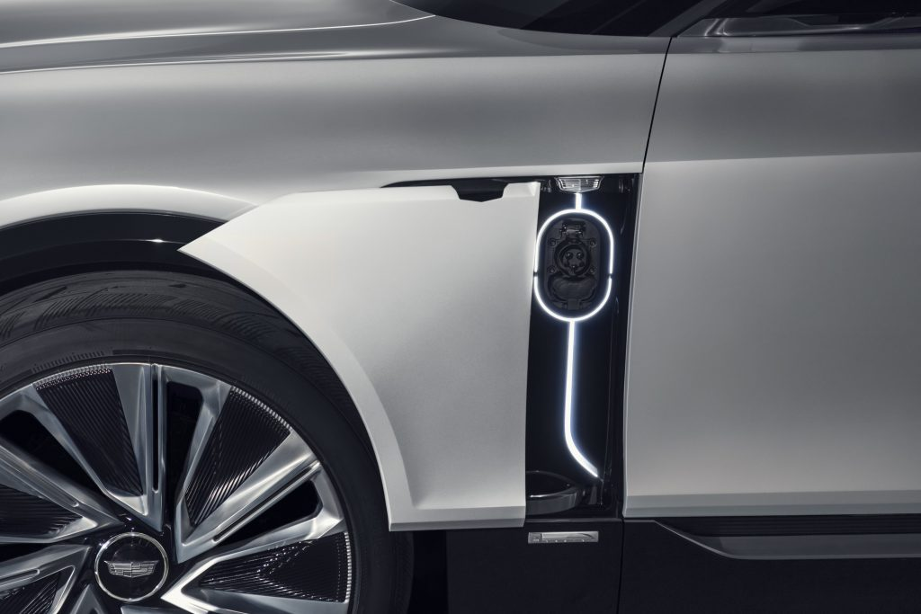 Charging EV Cadillac Lyriq