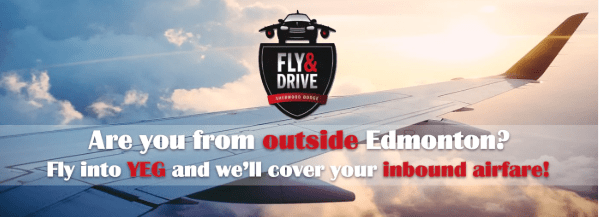 Fly into YEG and we'll cover your inbound airfare!