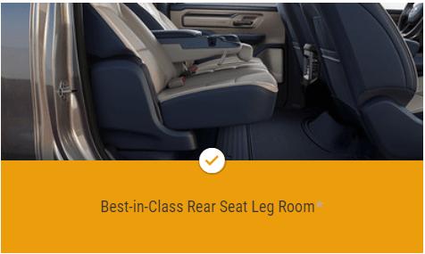 Best in Class Rear Seat Leg Room