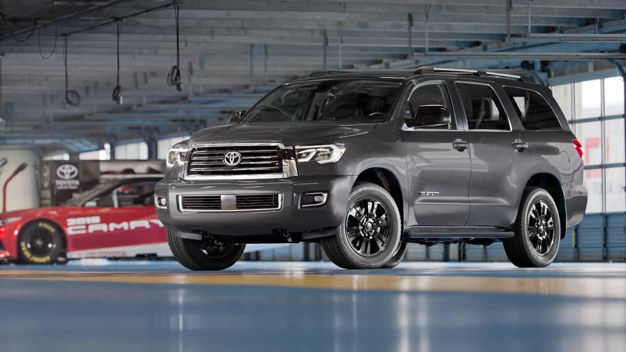 2018 Toyota Sequoia parked in garage